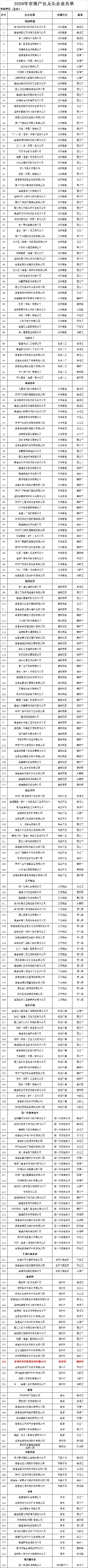 2020年市级产业龙头企业名单.png